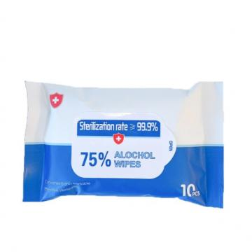 Wholesale 50 PCS Large 75% Alcohol Ethanol Antibacterial Sterilization Disinfecting Surface Wipes