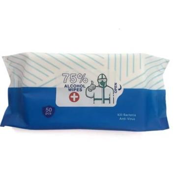 Individual Cheap Wholesale Logo Anti Bacterial Non Woven Adult Hand Cleaning 75% Ethanol Isopropyl Alcohol Wet Wipes