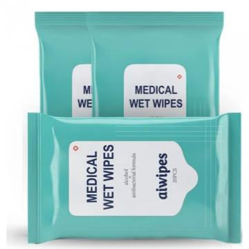 Alcohol Medical Antibacterial Surface Disinfection Wet Wipes