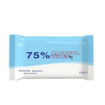 Multifunctional 75% Alcohol-Based Portable Sterilized Wipes Disposable Ethanol Chlorinated Sterilized Alchohol Wet Wipes Disinfectant Wipe