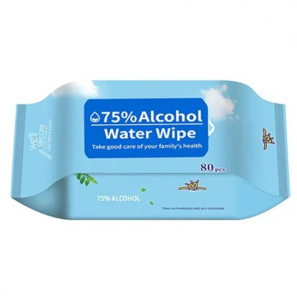 100pcs antiseptic disinfectant cleaning 75%alcohol hand wet wipes #1 image