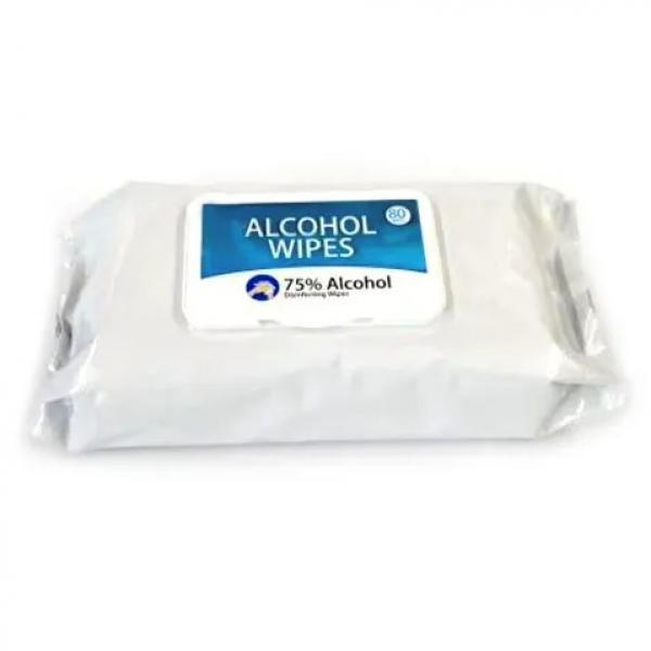 100pcs antiseptic disinfectant cleaning 75%alcohol hand wet wipes #3 image